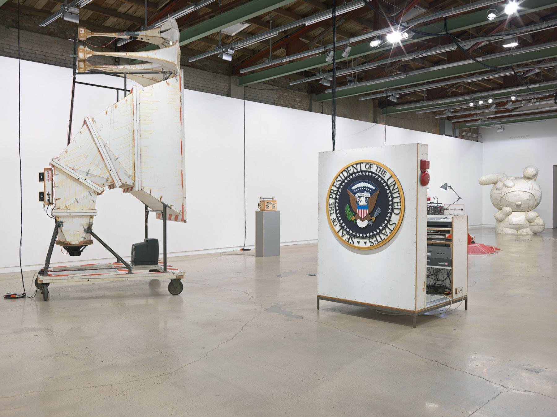 Installation view, Tom Sachs, Boombox Retrospective, 1999-2015, The Contemporary Austin, Austin, TX, 2015
