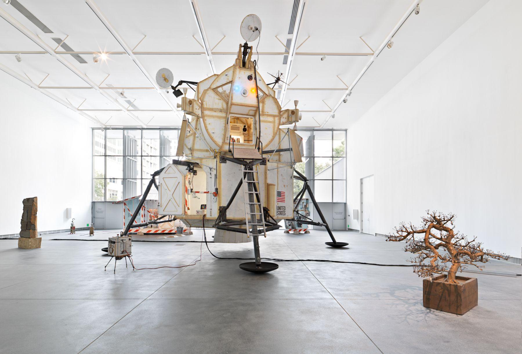 Installation view, Tom Sachs,â€‹Space Program 3.0: Europa, Yerba Buena Center for the Arts, San Francisco, CA, 2016