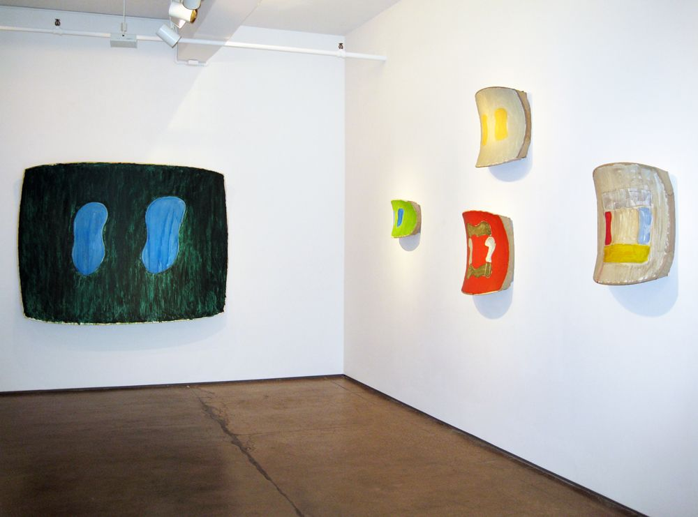 Installation view, Ron Gorchov, Recent Paintings, â€‹Nicholas Robinson Gallery, New York, 2008