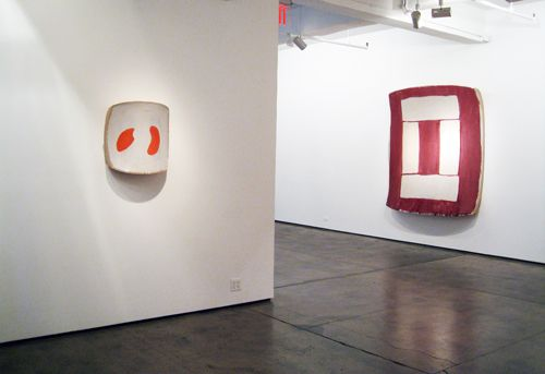 Installation view, Ron Gorchov, Recent Paintings, Nicholas Robinson Gallery, New York, 2008