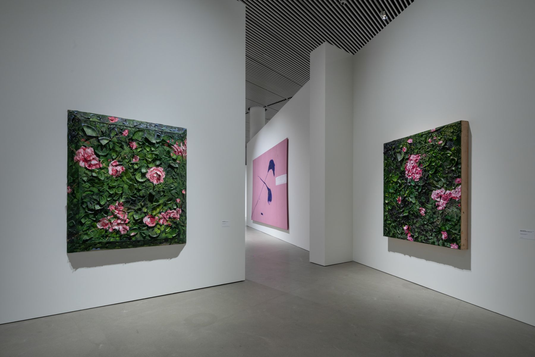 Installation view, Julian Schnabel: Aktion Paintings 1985-2017