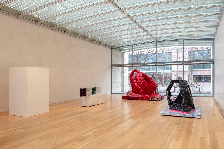Installation view, Sterling Ruby:Sculpture,Nasher Sculpture Center, Dallas, TX, 2019