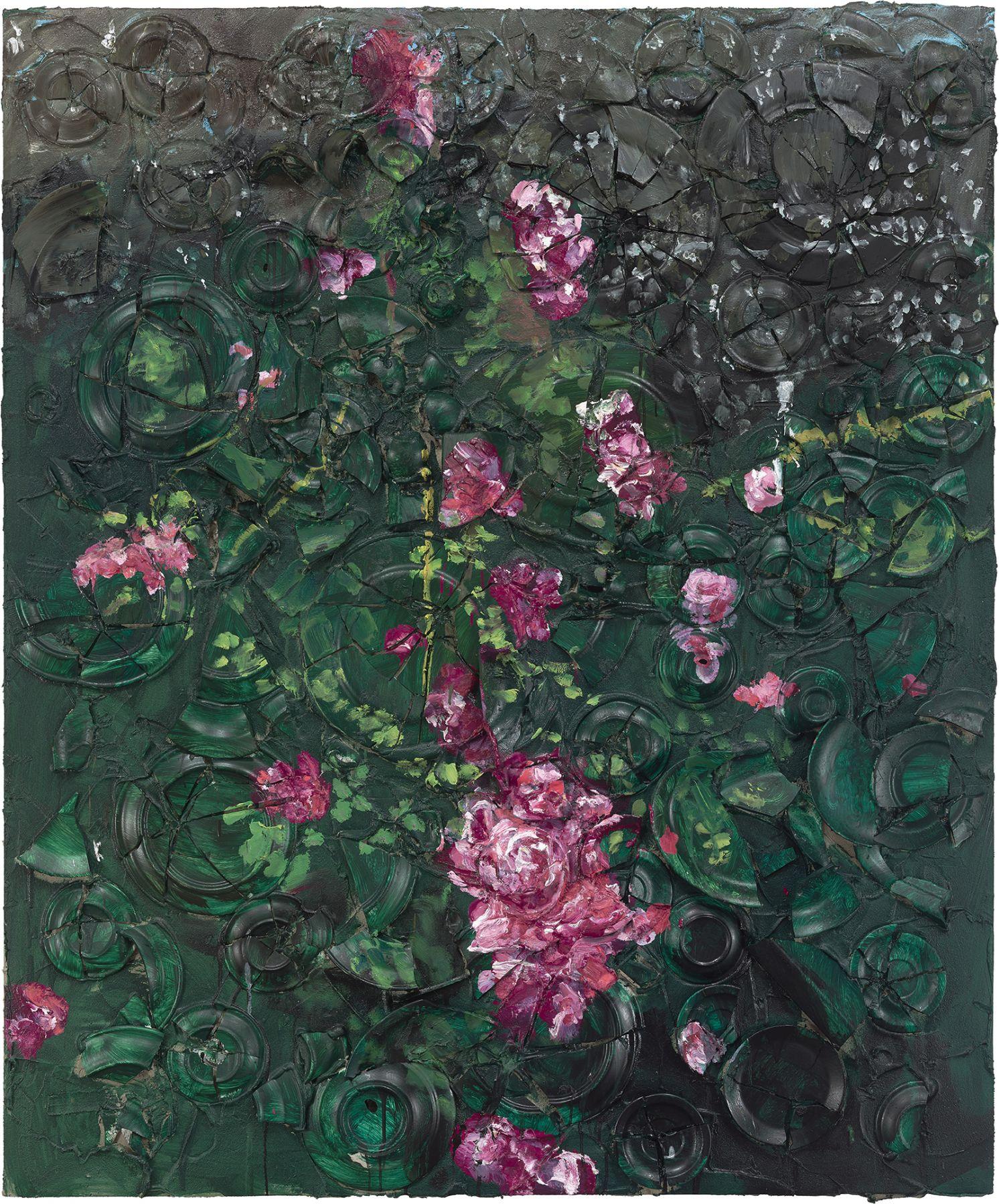 Julian Schnabel, Rose Painting (Near Van Gogh's Grave) V
