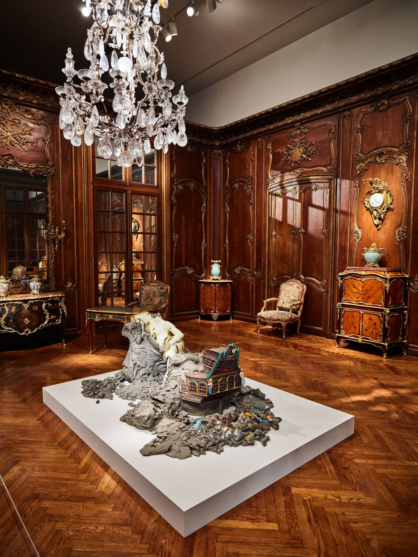 Installation view, Urs Fischer: The Public and the Private, Fine Arts Museums of San Francisco, Legion of Honor Museum, California, 2017