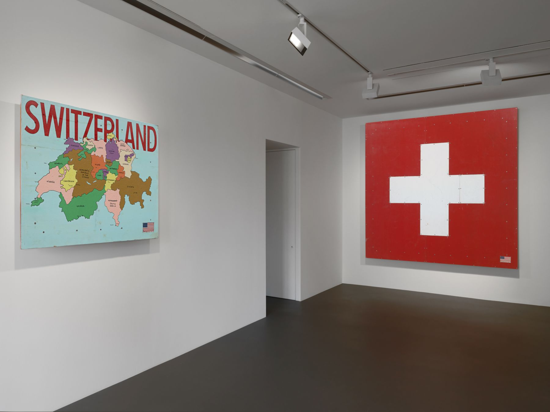 Installation view: Tom Sachs,The Pack, Vito Schnabel Gallery, St. Moritz, 2018-2019, © Tom Sachs; Photos by Stefan Altenburger; Courtesy Tom Sachs Studio and Vito Schnabel Gallery