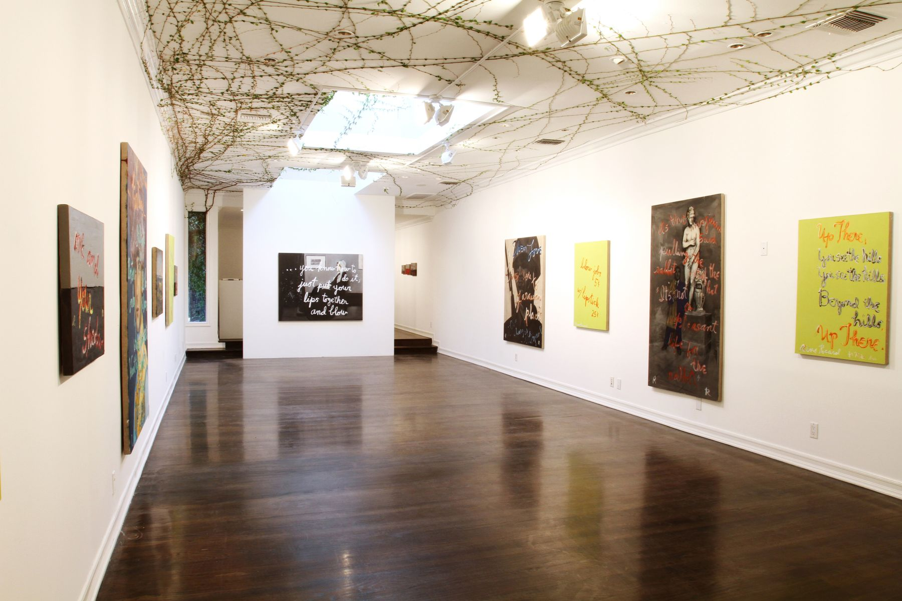 Installation view, Rene Ricard: Go Mae West, Young Man, Los Angeles, 2012