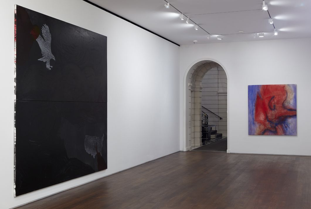 Installation view, Group Show, White Collar Crimes, Acquavella Galleries, New York, 2013