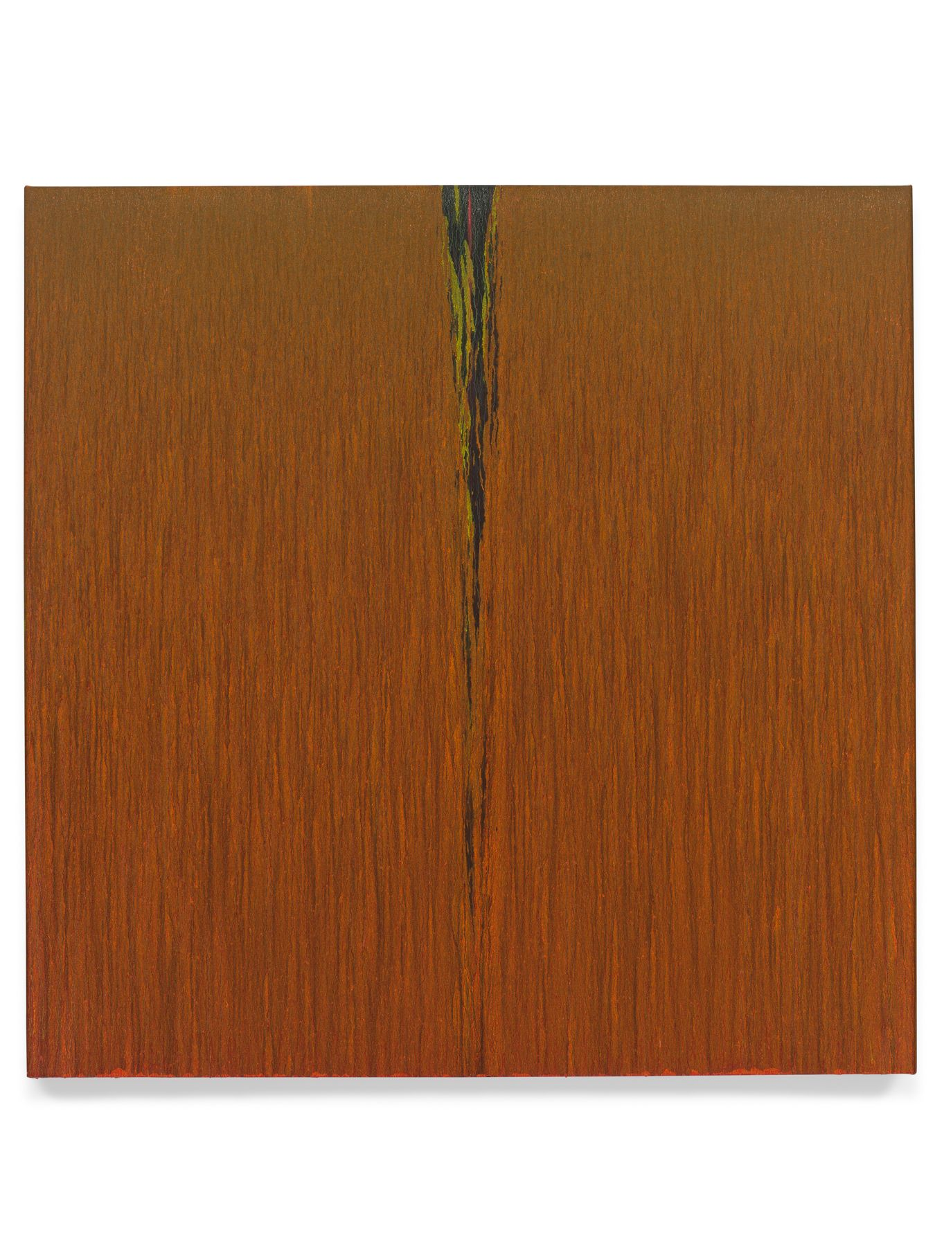 Pat Steir, Orange, 2018, Oil on canvas