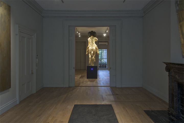 Installation view, The Bruce High Quality Foundation, Meditations of the Emperor, Mark Fletcher, New York, 2013