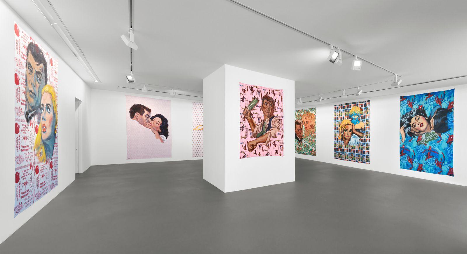 Installation view, Walter Robinson, The Americans, Vito Schnabel Gallery, St. Moritz, 2017