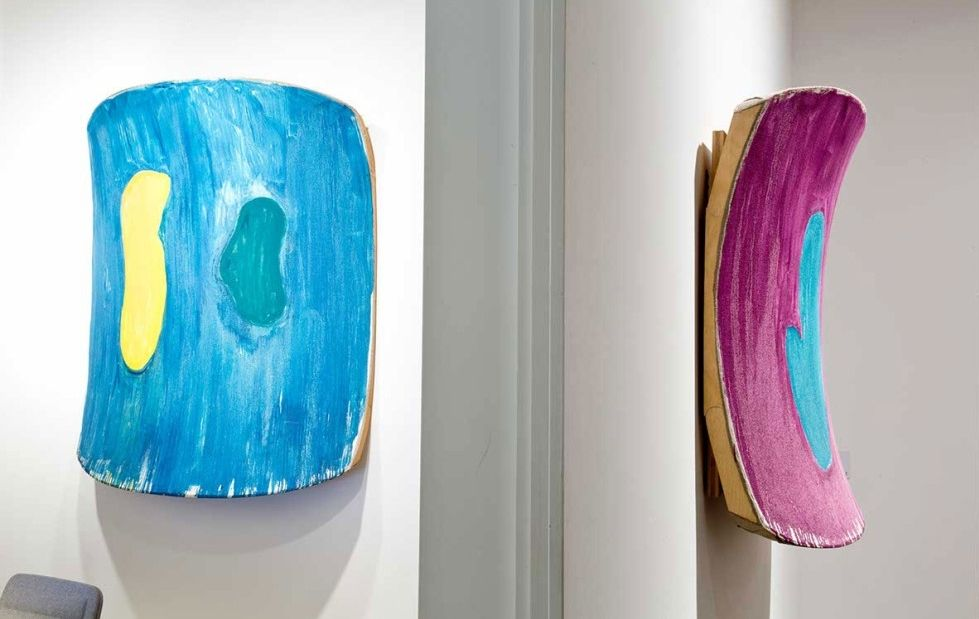 Installation view, Ron Gorchov: Ron Gorchov: Paintings, S|2 Sotheby's, London, 2015