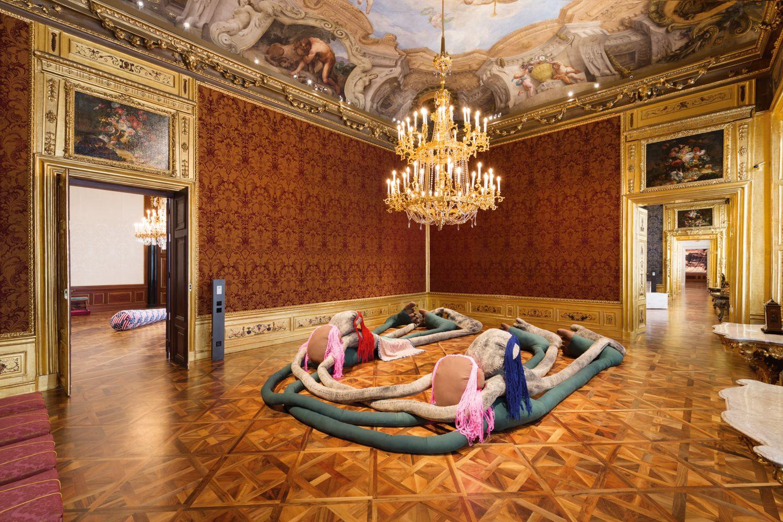 Installation view, Sterling Ruby,Winterpalais, Belvedere Museum, Vienna, Austria, 2016