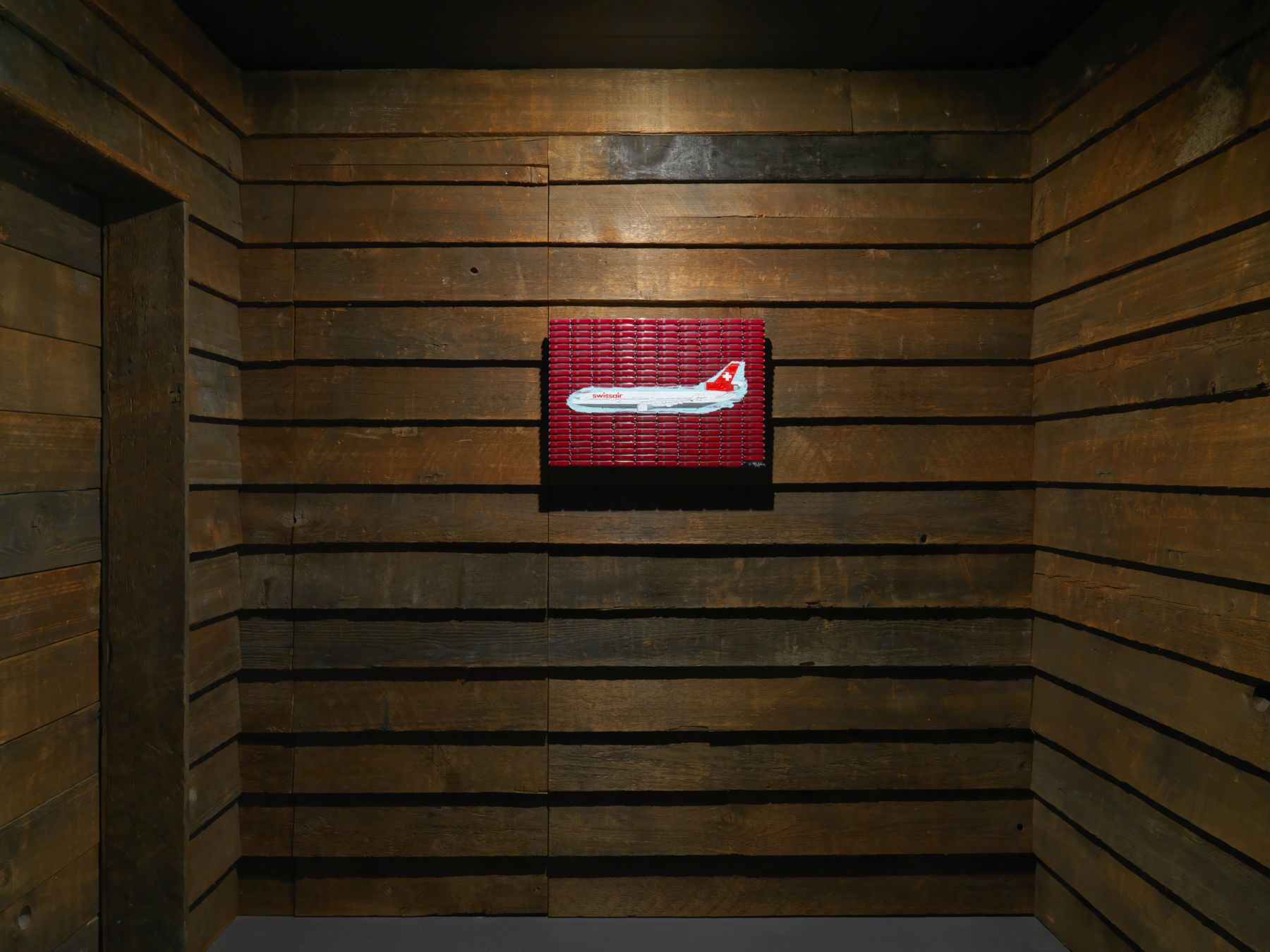 Installation view: Tom Sachs,The Pack,Vito Schnabel Gallery, St. Moritz, 2018-2019, © Tom Sachs; Photos by Stefan Altenburger; Courtesy Tom Sachs Studio and Vito Schnabel Gallery