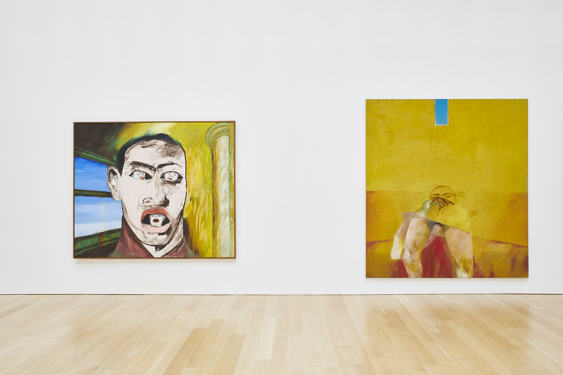 Installation view, Francesco Clemente: Works 1978-2018, The Brant Foundation Art Study Center, Greenwich, CT, 2018-2019
