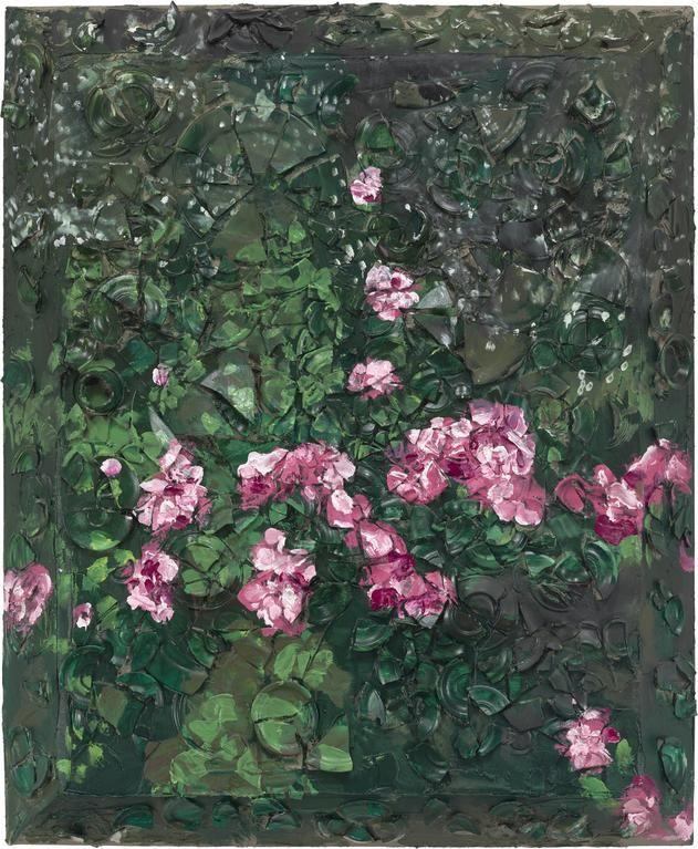 Julian Schnabel, Rose Painting (Near Van Gogh's Grave) VI