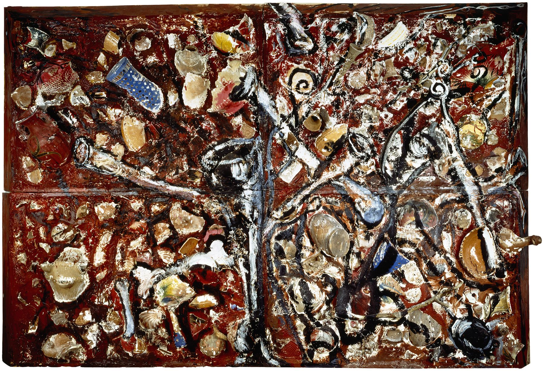 Julian Schnabel, Bones and Trumpets Rubbing Against Each Other Towards Infinity