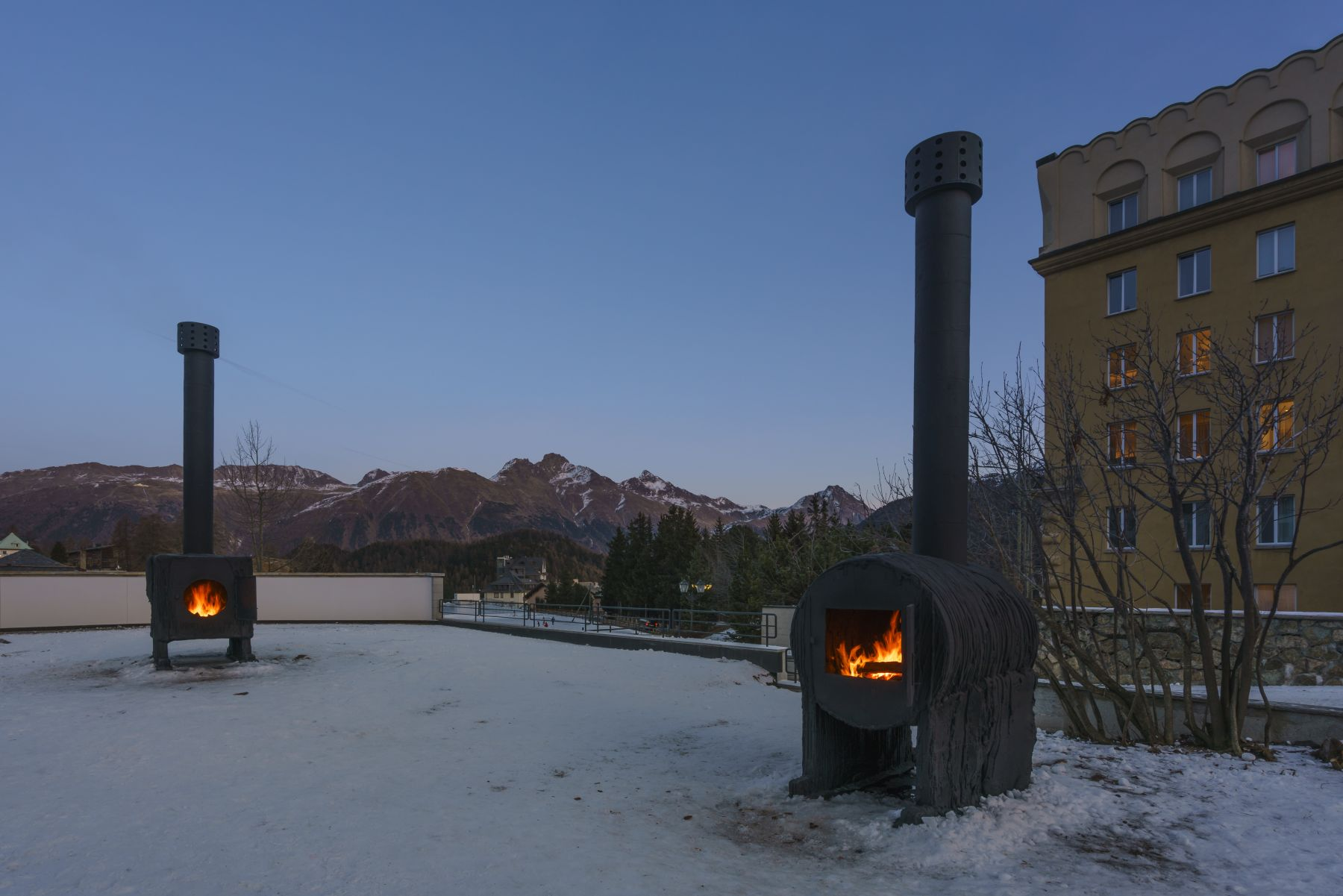 Installation view, Sterling Ruby: STOVES, Vito Schnabel Gallery, St. Moritz, 2015