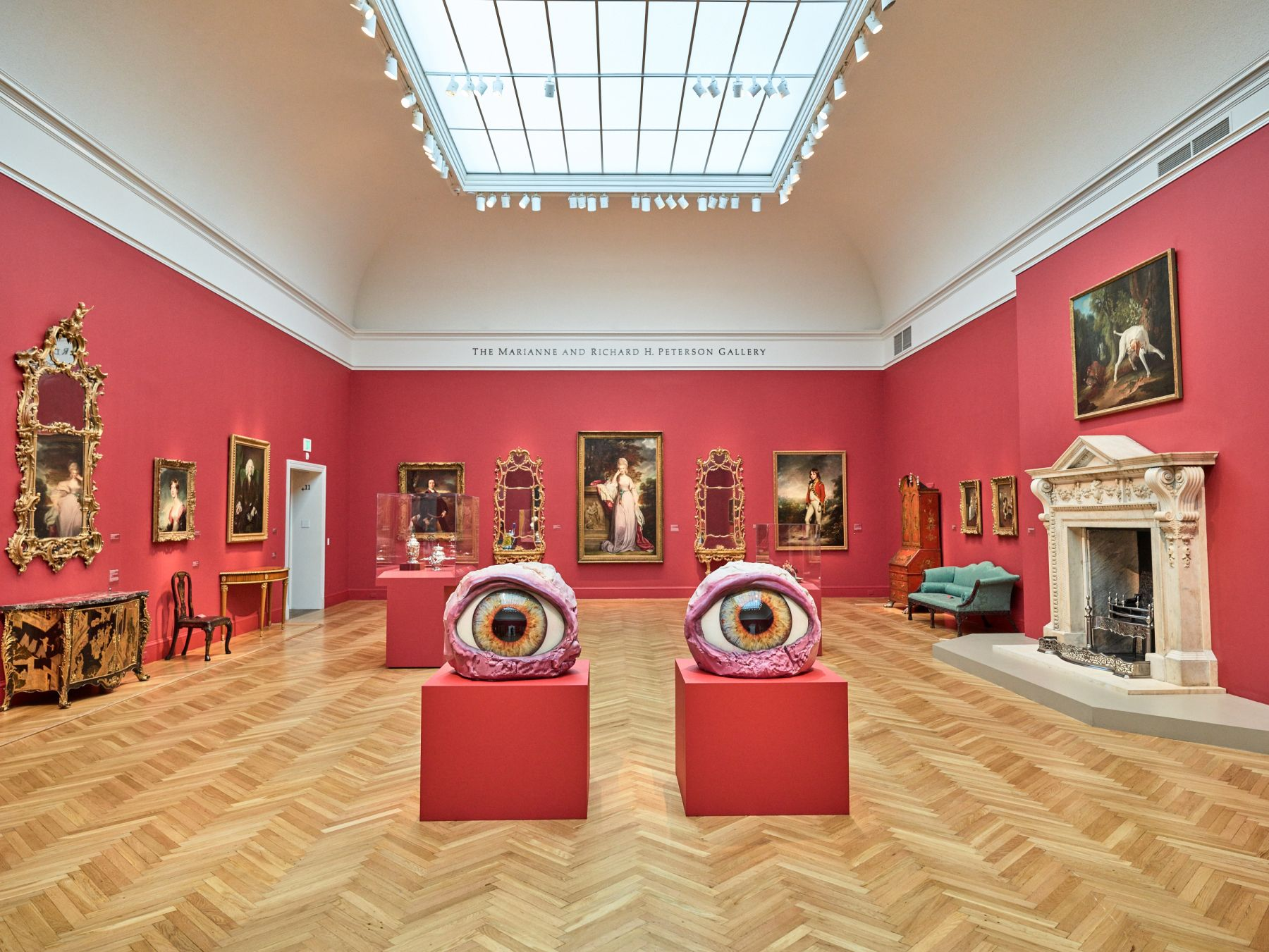 Installation view,Urs Fischer: The Public and the Private,Fine Arts Museums of San Francisco,Legion of Honor Museum, California, 2017