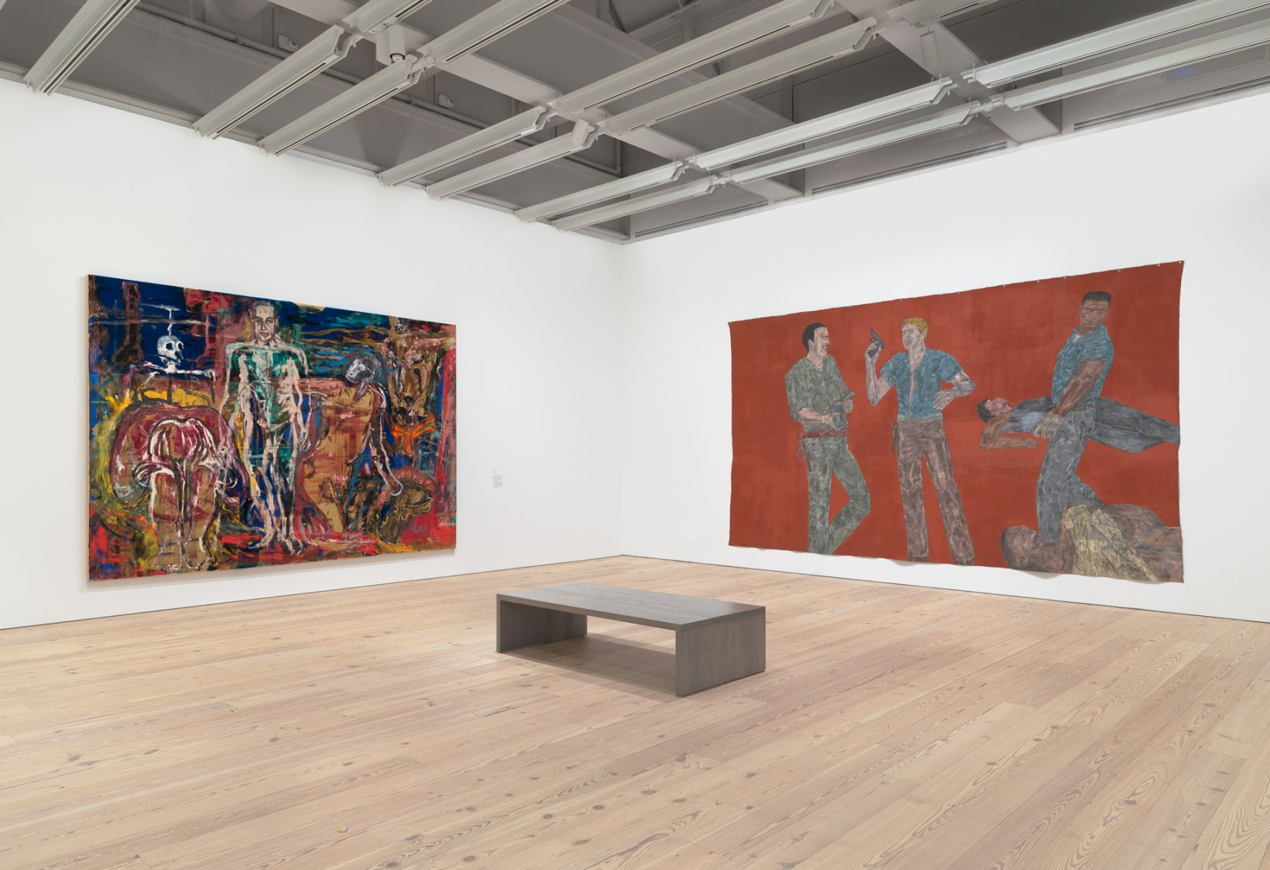 Installation view,Fast Forward: Painting from the 1980s,Whitney Museum of American Art, New York, 2017