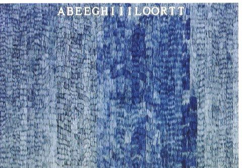 ALIGHIERO BOETTI ABEEGHIIILOORTT, 1973