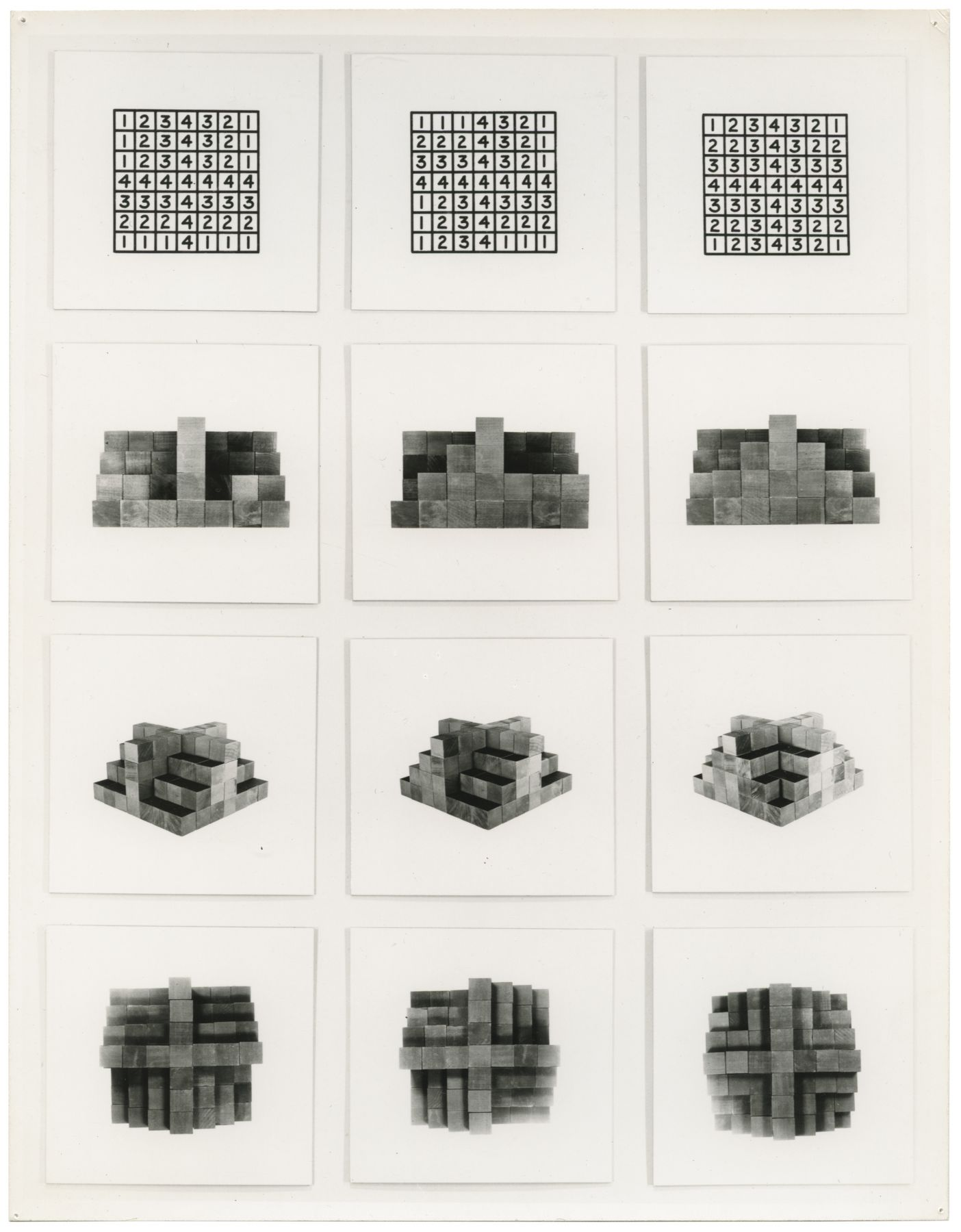 Mel Bochner,36 Photographs and 12 Diagrams: Set A,1966.