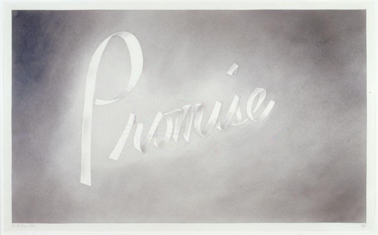 Ed Ruscha Promise, 1967