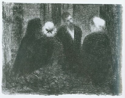 Georges Seurat, Condolences; Family Gathering, 1885-86.