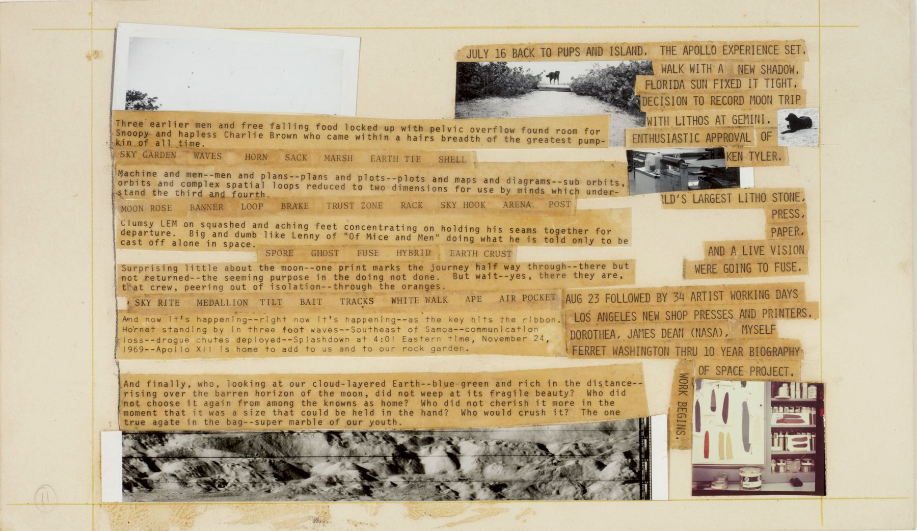 Robert Rauschenberg Stoned Moon Book, Page 11, 1970