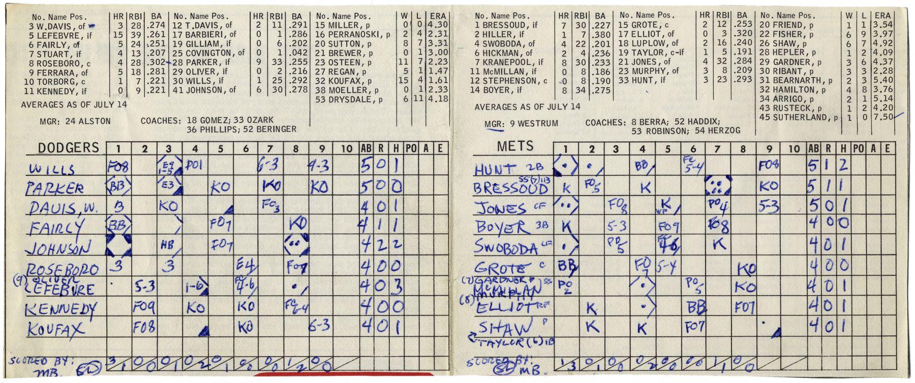 Mel Bochner,Scorecard Drawing (Mel Bochner and Sol Lewitt), 1966.