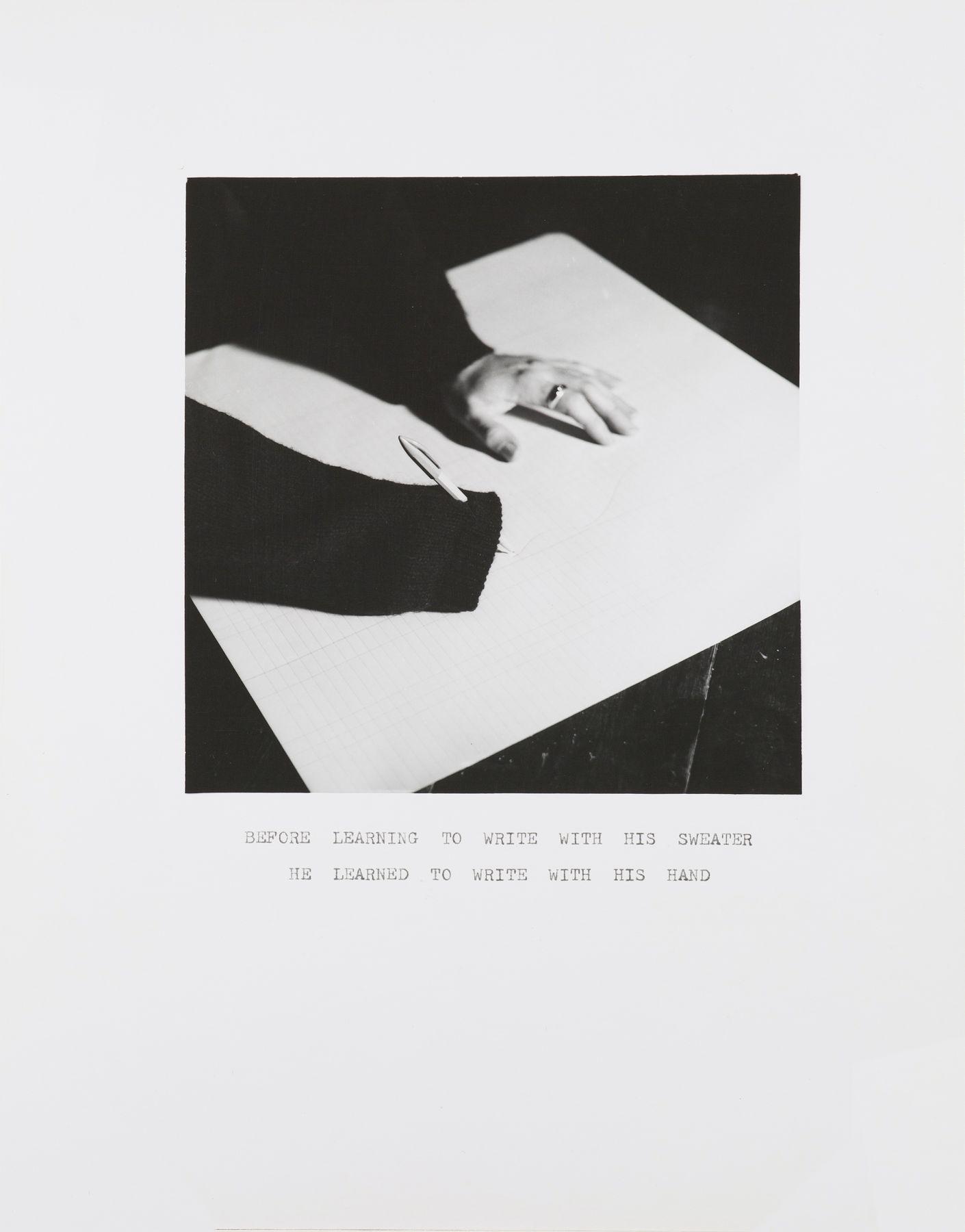 William Wegman,Sweater Wiring, 1972.
