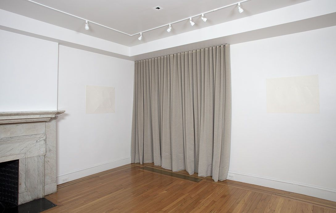 Installation view of Dorothea Rockburne: Works 1967-1972 at Craig F. Starr Gallery