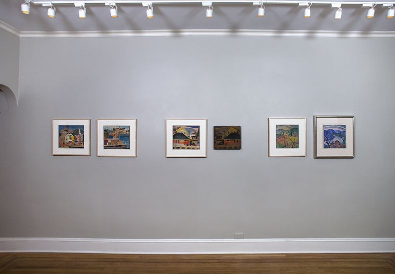 Installation view ofBlanche Lazzell: White-line Color Woodcutsat Craig F. Starr Gallery