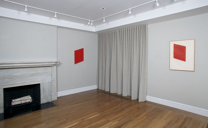 Installation view of Donald Judd: Cadmium Red at Craig F. Starr Gallery