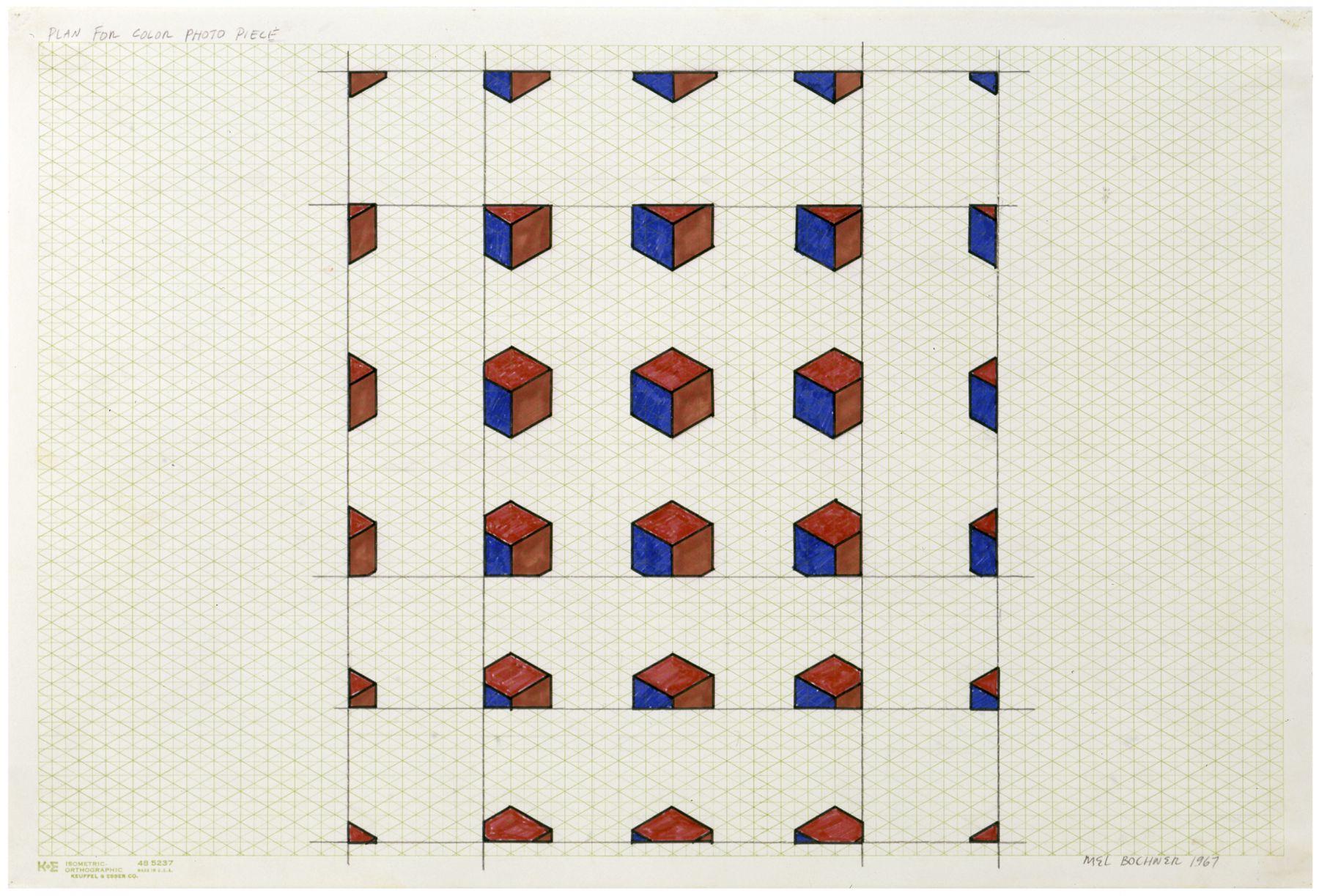 Mel Bochner,Plan for Color Photo Piece, 1967.