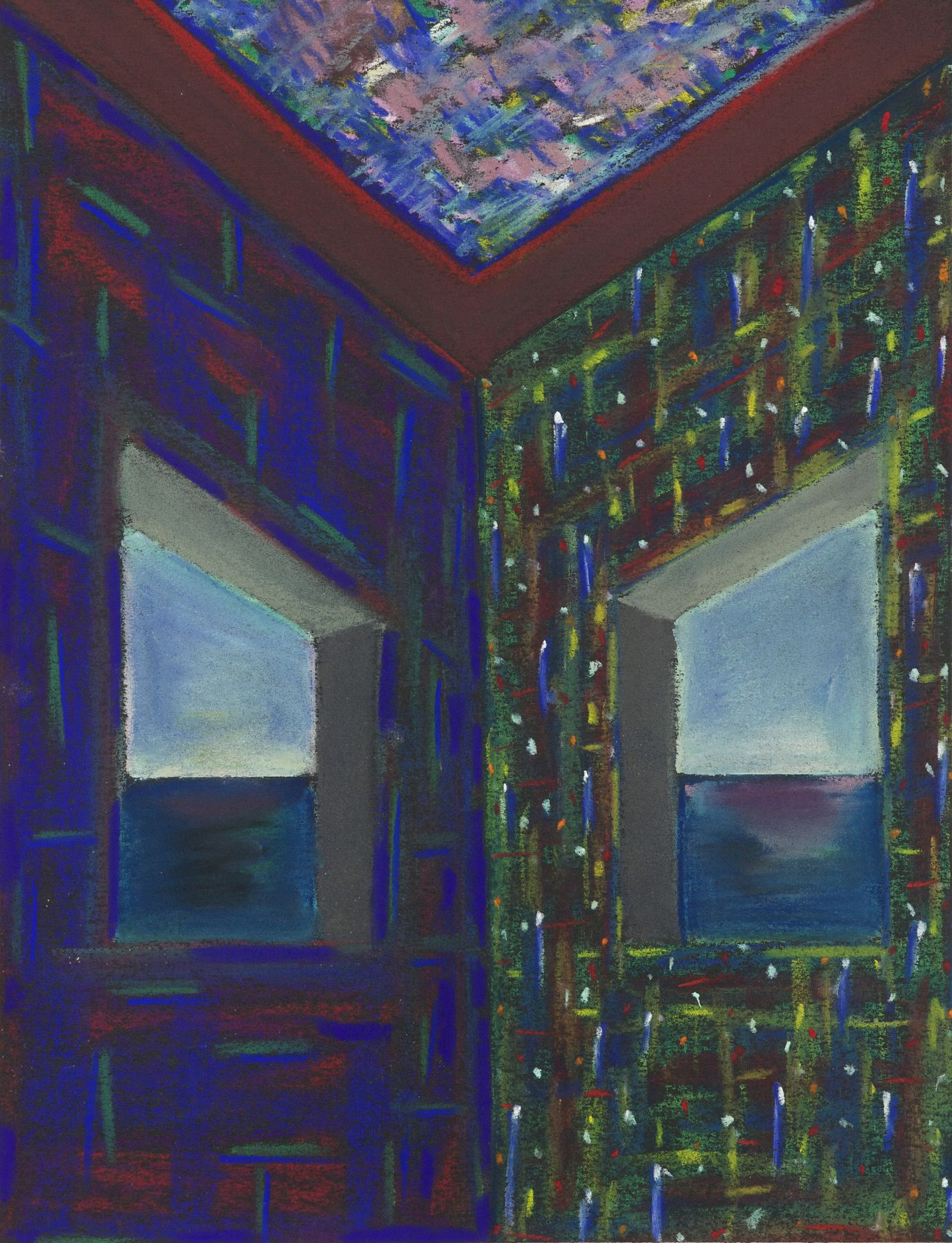 Lucas Samaras, Untitled, August 4, 1974. Pastel on paper, 13 x 10 inches.