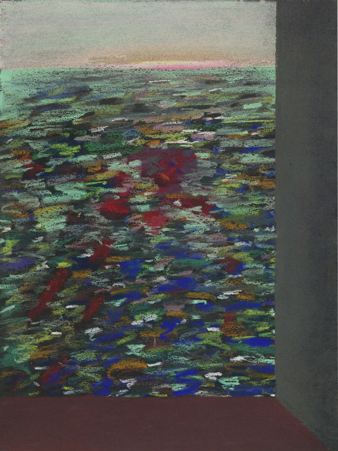 Lucas Samaras, Untitled, August 10, 1974. Pastel on paper, 13 x 10 inches.