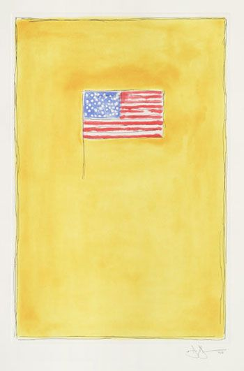 Jasper Johns, Flag on Orange, 1998.