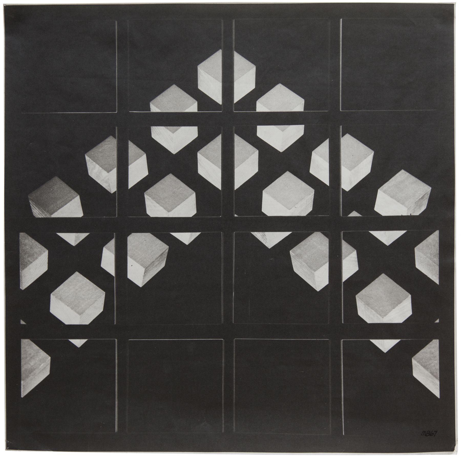 Mel Bochner,Isomorph A4, 1967. Photograph, 16 1/4 x 16 1/4 inches.