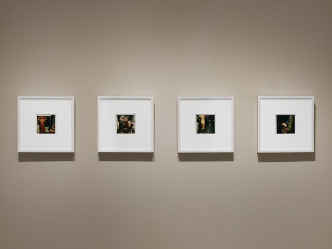 "Installation view of ""Lucas Samaras: Photo-Transformations"". Photograph by Dan Bradica."