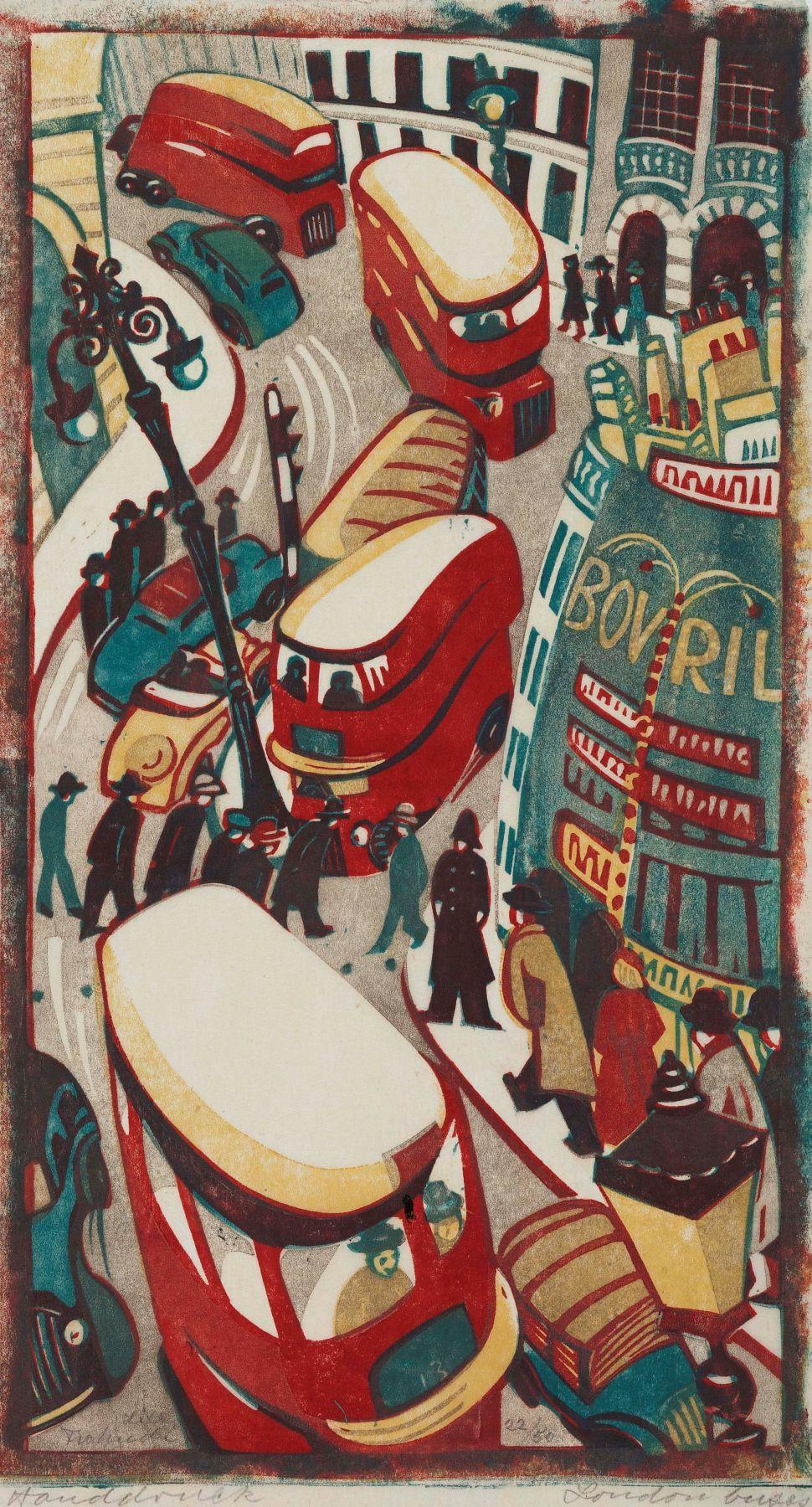 Lill Tschudi,London Buses, 1949.