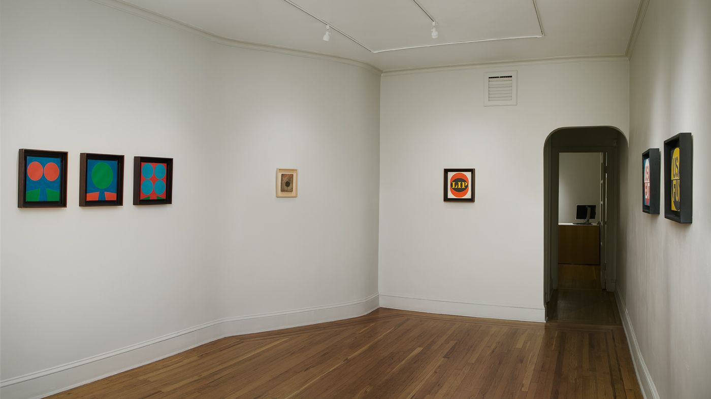 Installation view of Robert Indiana: Sign Paintings, 1960-65 at Craig F. Starr Gallery