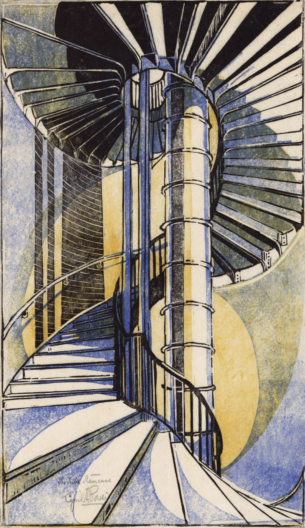 Cyril Power, The Tube Staircase, 1929.