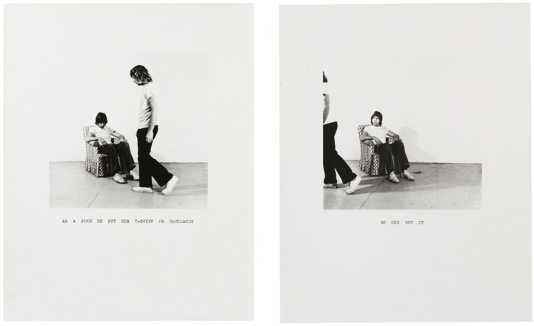 William Wegman,As a Joke ..., 1971.