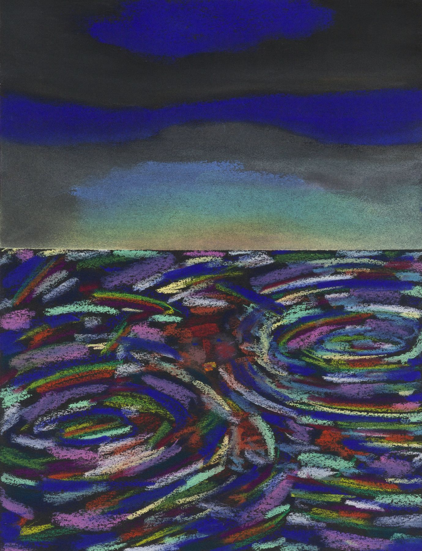 Lucas Samaras, Untitled, October 17, 1974. Pastel on paper, 13 x 10 inches.