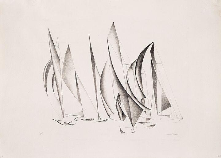 Charles Sheeler Yachts, 1924