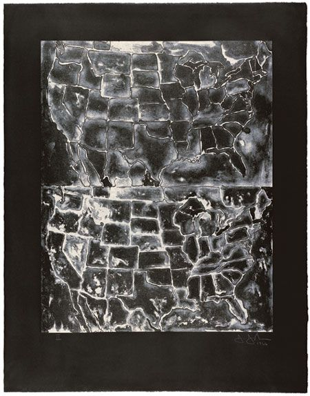Jasper Johns, Two Maps II, 1966.