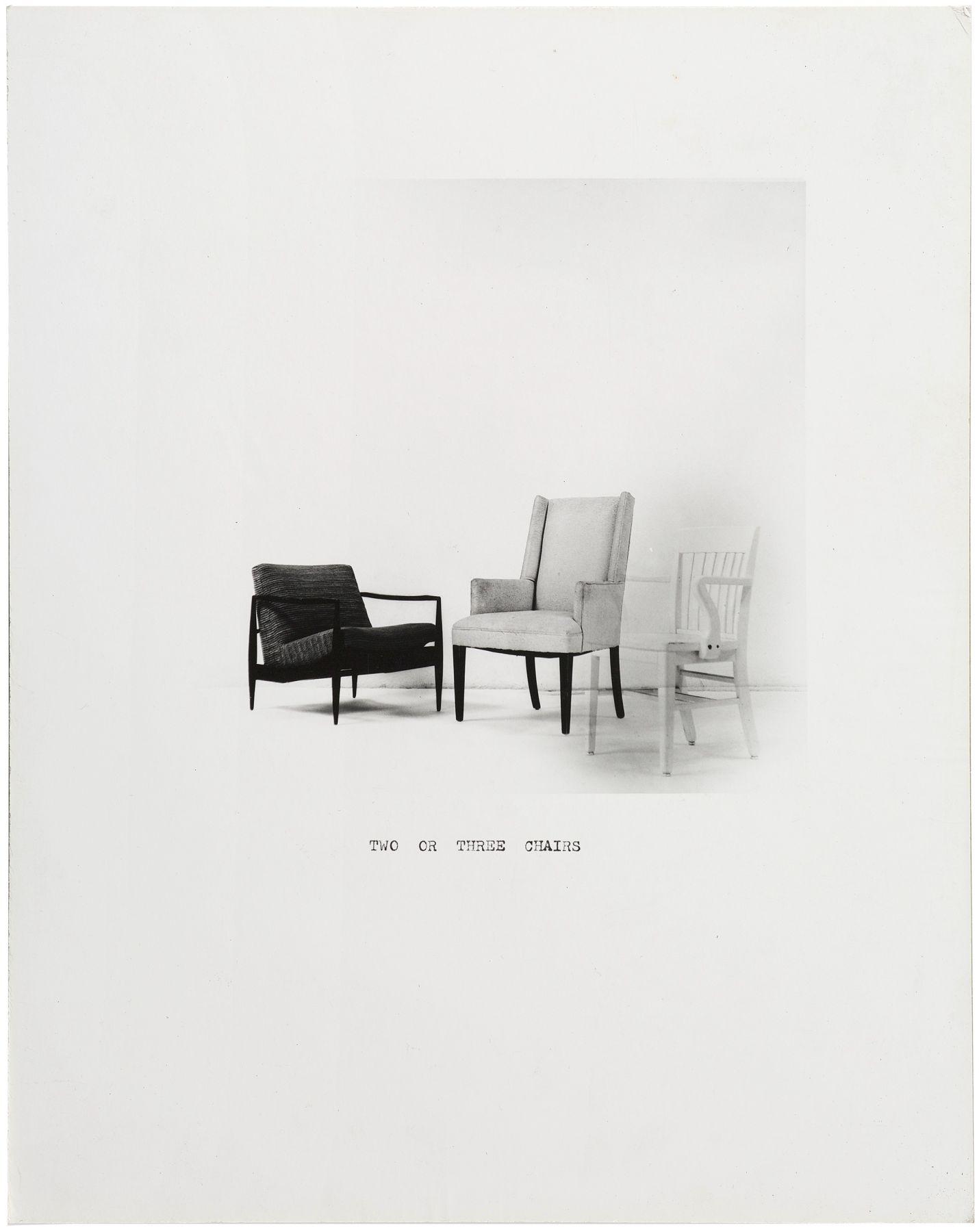 William Wegman,Two or Three Chairs,1972.