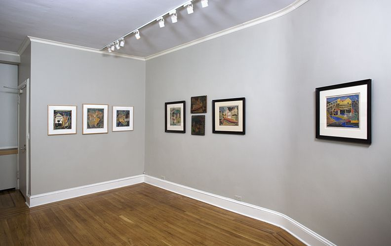 Installation view of Blanche Lazzell: White-line Color Woodcutsat Craig F. Starr Gallery