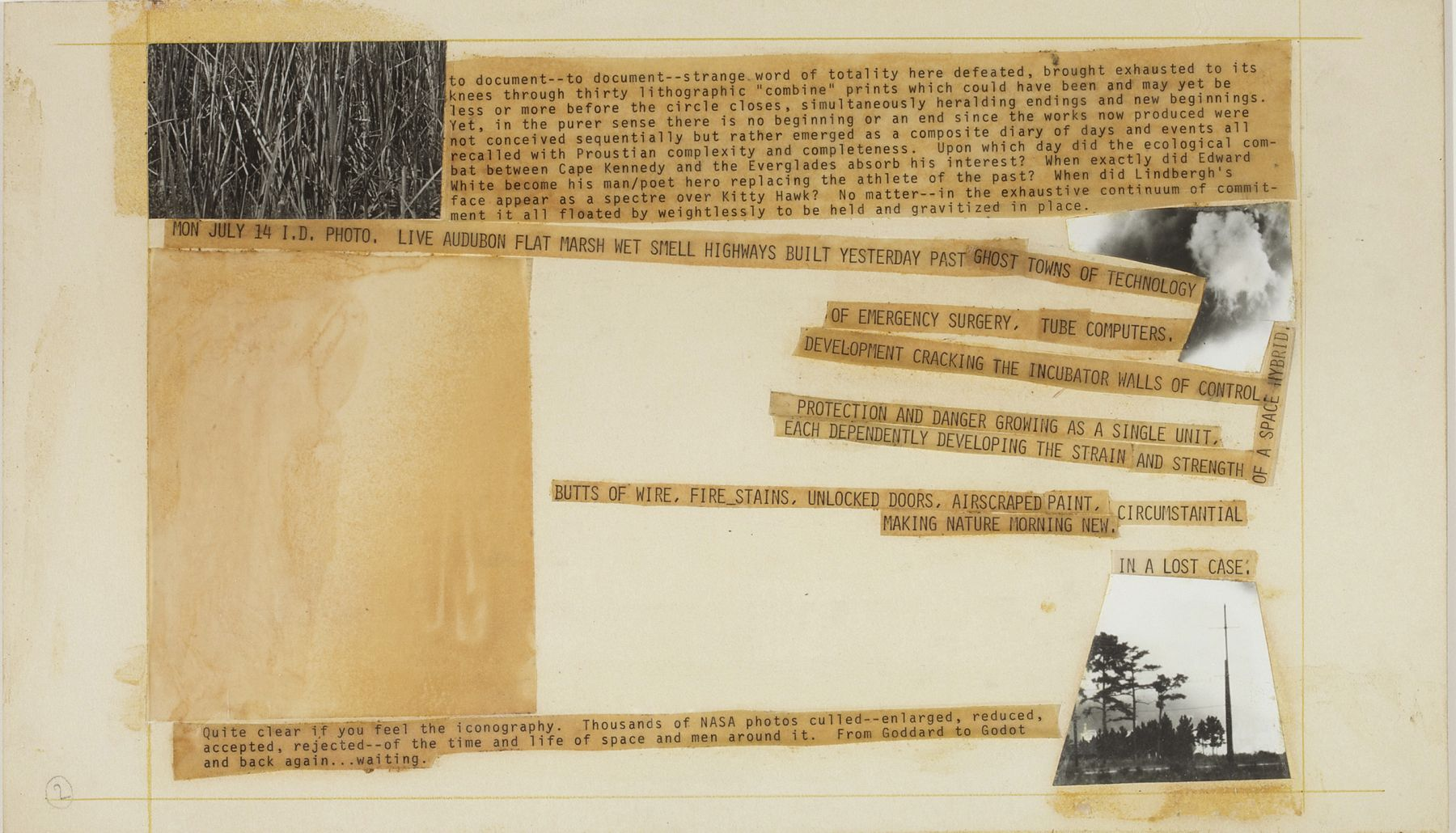 Robert Rauschenberg Stoned Moon Book, Page 2, 1970