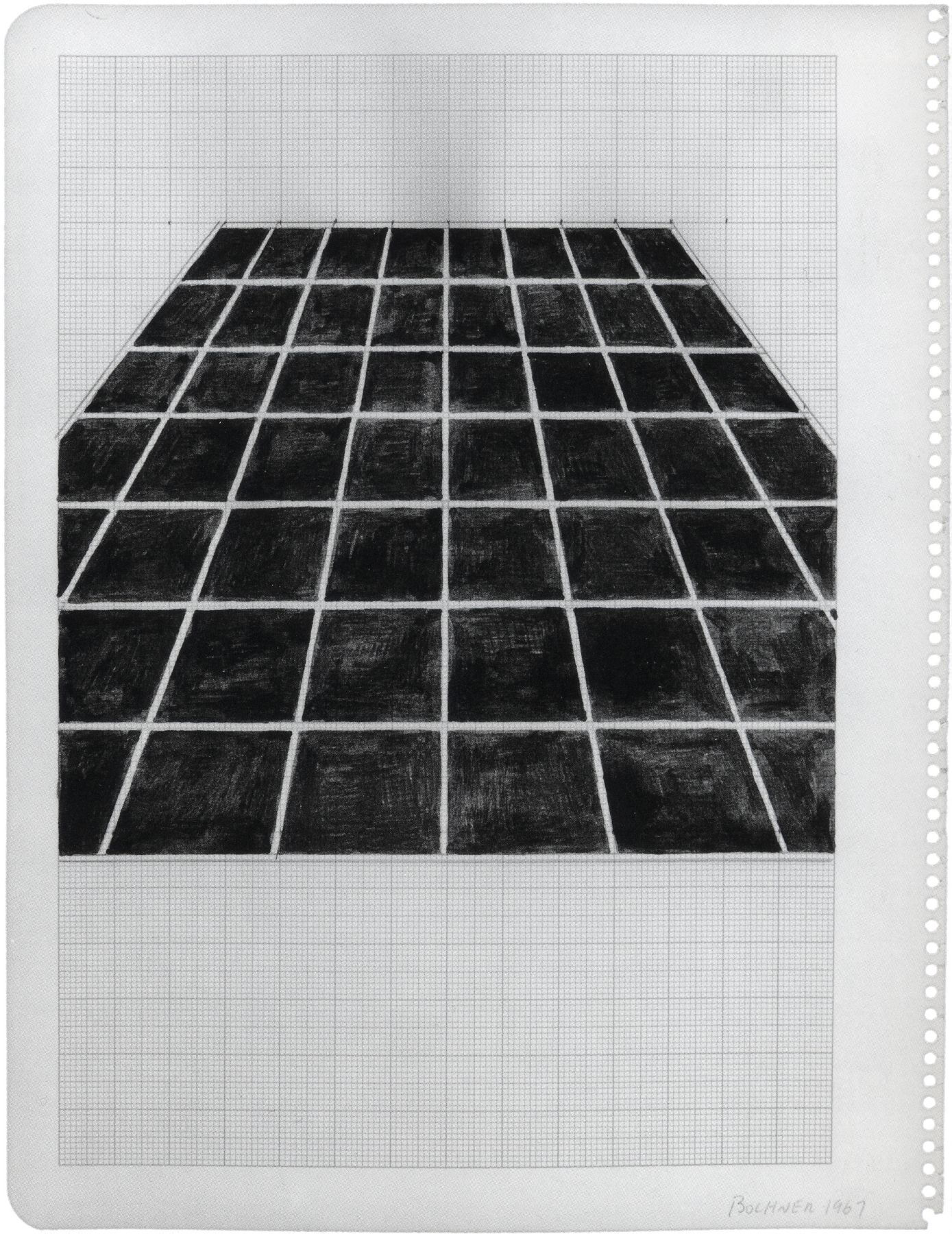 Mel Bochner,Study for Photo Piece (One Point Perspective), 1967.